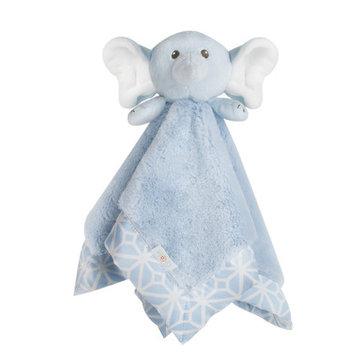 COCALO Blue Elephant Plush Security Blanket