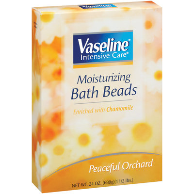 Vaseline Intensive Care Peaceful Orchard Scent Enriched W/Chamomile Moisturizing Bath Beads Box