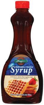 Haggen Pancake & Waffle Light Syrup 24 Oz Plastic Bottle