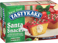 Tastykake® Cream Filled Vanilla Santa Snacks® Cakes
