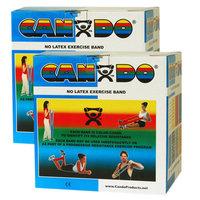 CanDo 10-5654 Latex Free Exercise Band 100 Yard 2 x 50-Yd Rolls Blue-Heavy