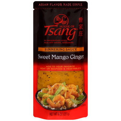 House of Tsang® Sweet Mango Ginger Simmering Sauce 8 oz. Pouch