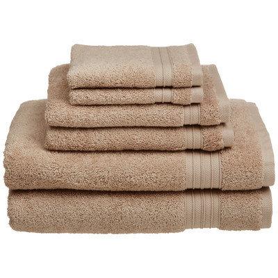 Chambray & Co. Cotton 6 Piece Towel Set Color: Sand