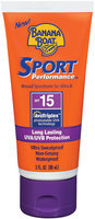 Banana Boat Sport Performance Broad Spectrum SPF 15 Sunblock 3 Fl Oz Tube