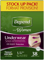 Depend for Women L Maximum Absorbency Underwear 38 ct Pack