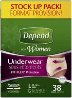 Depend for Women L Maximum Absorbency Underwear 38 ct Pack