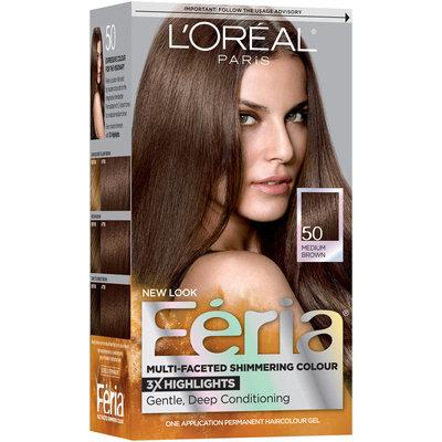 L'Oréal® Paris Feria® Multi-Faceted Shimmering Colour 50 Medium Brown Hair Color 1 kt Box