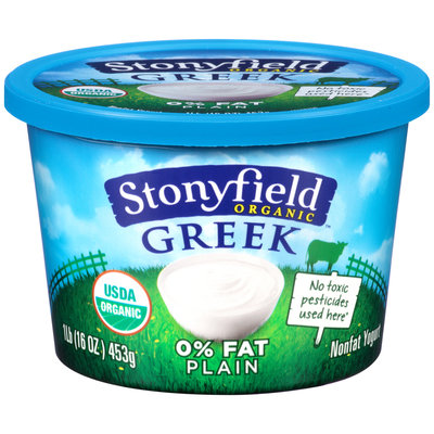 Stonyfield® Organic Greek Nonfat Plain Yogurt 16 oz. Tub