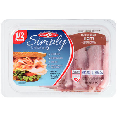 Land O' Frost® Simply Delicious® Black Forest Ham 8 oz. Pack