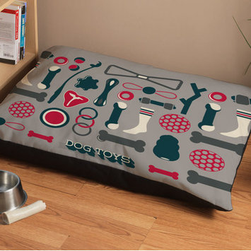 Checkerboard Chew Toys Dog Bed