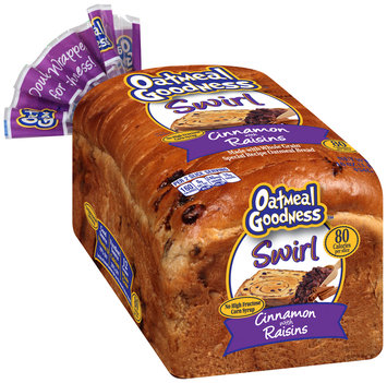 Oatmeal Goodness™ Swirl Cinnamon with Raisins Bread 16 oz. Pack