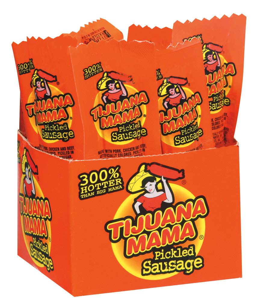 Tijuana Mama 2.4 Oz Pickled Sausage 12 Ct Box