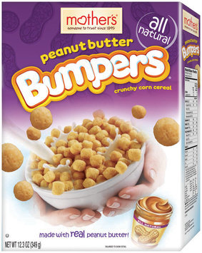 Mother's All Natural Peanut Butter Bumpers Corn Cereal 12.3 Oz Box