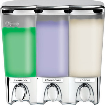 Hold N Storage Triple Clear Shampoo Dispenser 72344 by Better Living C