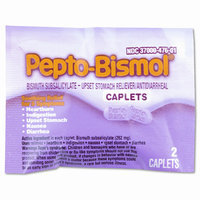 PhysiciansCare Johnson & Johnson Pepto Bismol Tablets, 25 per Box