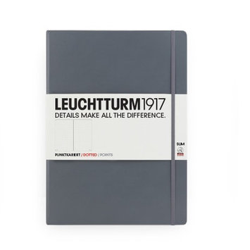 Kikkerland Leuchtturm Slim Master Book Paper: Dots, Color: Grey