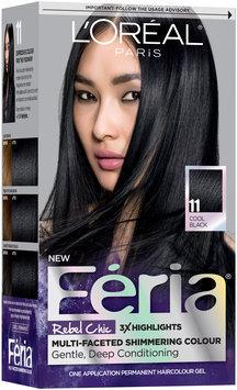 L'Oréal® Paris Feria® Rebel Chic 11 Cool Black Hair Color 1 Kit Box