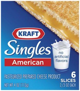 KRAFT SINGLES American 6 Ct Cheese Slices 4 OZ PACK