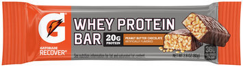 Gatorade Recover® Peanut Butter Chocolate Whey Protein Bar 2.8 oz Wrapper
