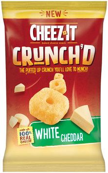Cheez-It® Crunch'd™ White Cheddar Baked Cheese Snack 8 oz. Bag