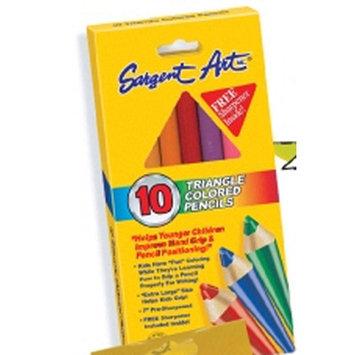 Sargent Art Jumbo Triangular Colored Pencils