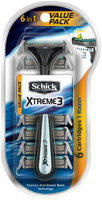 Schick® Xtreme 3® Disposable Razor + Cartridges 6 in 1 Value Pack