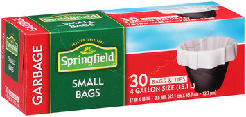 Springfield® Small Garbage Bags 30 ct Box