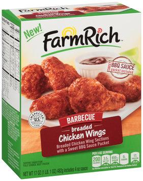 Farm Rich™ Barbecue Breaded Chicken Wings 17 oz. Box