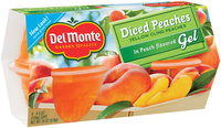 Del Monte™ Diced Peaches Fruit Cups in Peach Flavored Gel 4-4.5 oz. Cups