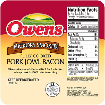 Owens® Hickory Smoked Pork Jowl Bacon