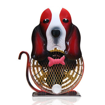 WBM LLC Himalayan Breeze Medium Decorative Basset Hound Fan