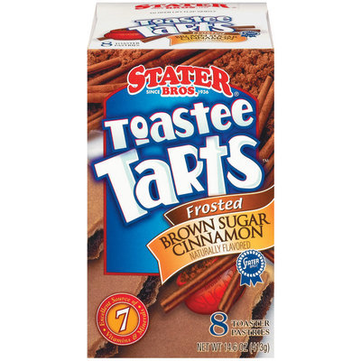 Stater Bros. Frosted Brown Sugar Cinnamon 8 Ct Toastee Tarts 14.6 Oz Box