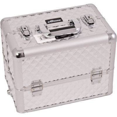 Sunrise E3304DMSL Silver Diamond Pro Makeup Case