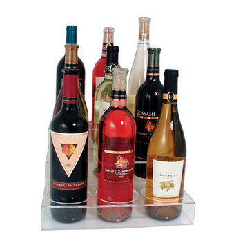 Update International ABO-3X3 Acrylic Wine Bottle Holder, 9