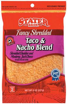 Stater Bros. Fancy Shredded Taco & Nacho Blend Cheese 8 Oz Peg