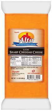 Alto® Sliced Cheddar Sharp Cheese 1.5 Lb Package