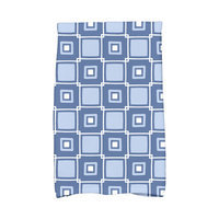 Beachcrest Home Rocio Square Pop Geometric Print Hand Towel Color: Blue