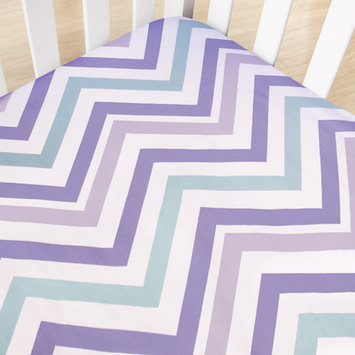 Cocalo Violet Chevron Crib Fitted Sheet