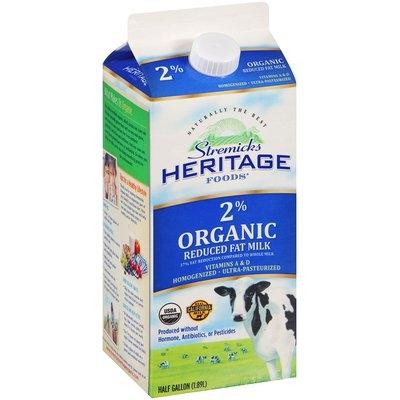 Stremicks Heritage Foods® Organic Reduced Fat Milk
