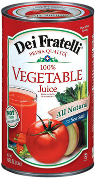Dei Fratelli 100% Vegetable Juice 46 Fl Oz Can