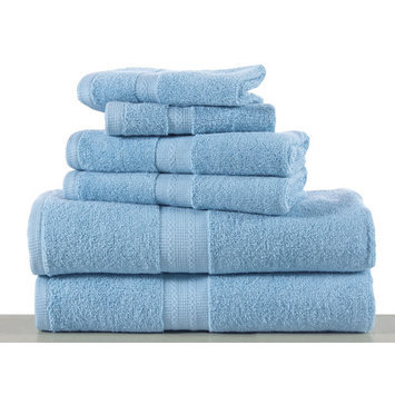 Affinity Linens Bano Senses 600 GSM Egyptian Cotton 6 Piece Towel Set, Blue