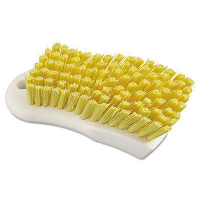 Boardwalk BWK FSCBYL 6 in. Polypropylene Scrub Brush - Yellow