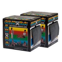 CanDo 10-5495 Low Powder Exercise Band 100 Yard 2 x 50-Yd Rolls Black X-Heavy