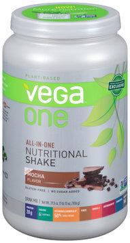 Vega™ One All-In-One Nutritional Shake Mocha Flavor Drink Mix 29.5 oz. Plastic Bottle