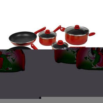 Victoria Gradient 12-Piece Cookware Set Color: Orange/Red