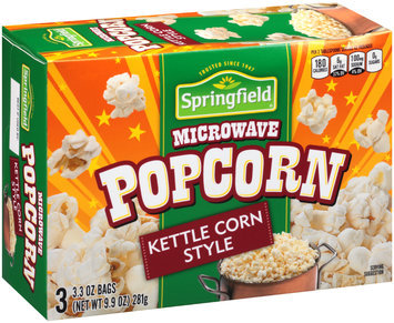 Springfield® Kettle Corn Style Microwave Popcorn 9.9 oz. Bags
