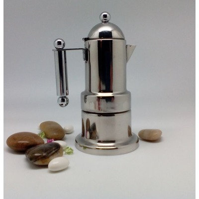5th Ave Store Stainless Stovetop 2 Cup Espresso Maker