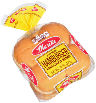 Merita® Sliced Hamburger Enriched Buns 8 ct Bag