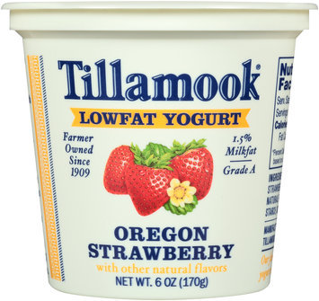 Tillamook® Oregon Strawberry Lowfat Yogurt 6 oz. Cup