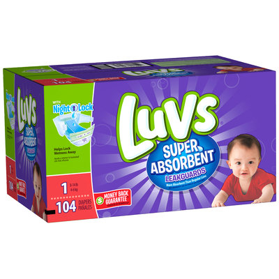 Stretch Luvs Super Absorbant Leakguards Diapers Size 1 104 Count